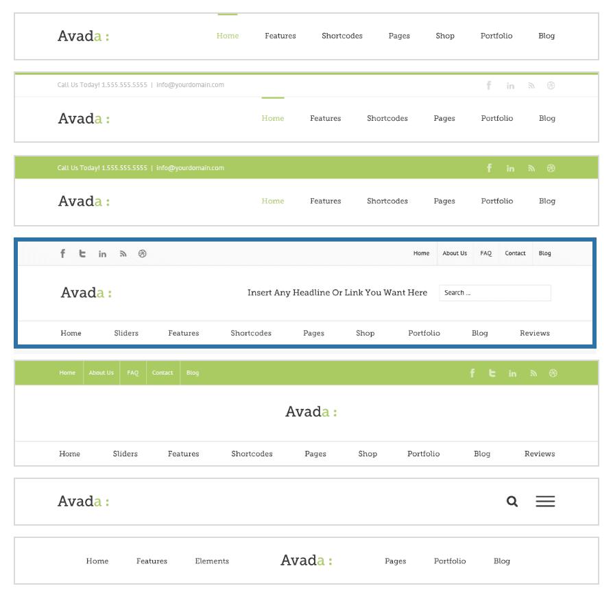 Avada 選單