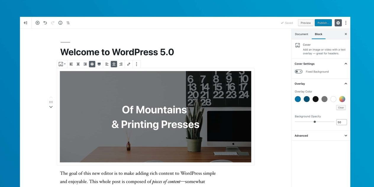 WordPress 5.0 發表