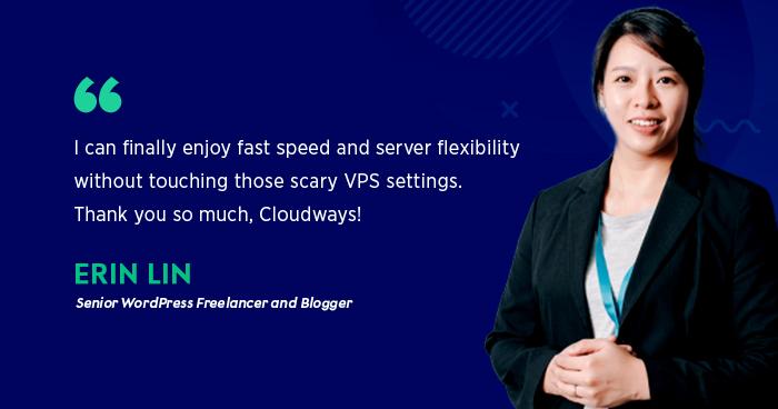 Cloudways 專訪 網站帶路姬 Erin Lin